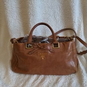 Authentic Prada Glace Two Way Handbag